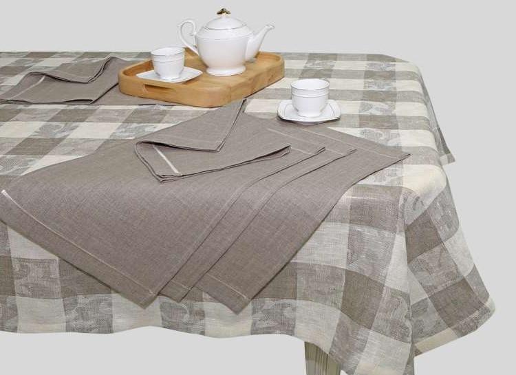 """Jacquard Linen Tablecloth """"Nostalgia"""""""