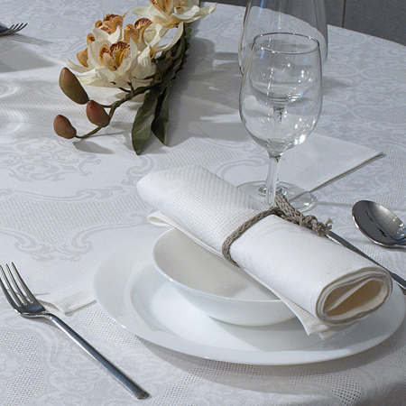 "Linen Tablecloth Jacquard ""Margo"""