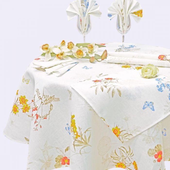 "Linen Tablecloth Set ""Summer Time"""