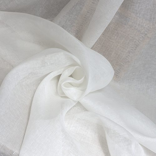 Linen Fabric For Curtains White