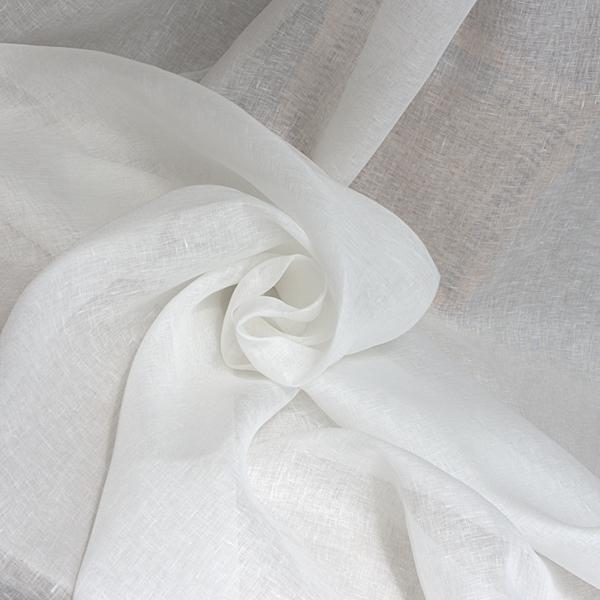 Leinenstoff für Vorhänge Weiß