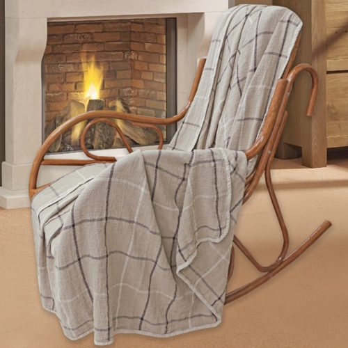 "Linen Blanket Plaid ""Rustica"""