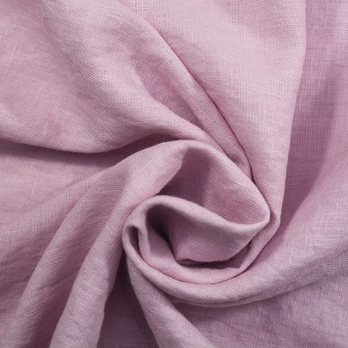 Linen Fabric Stonewashed Rose