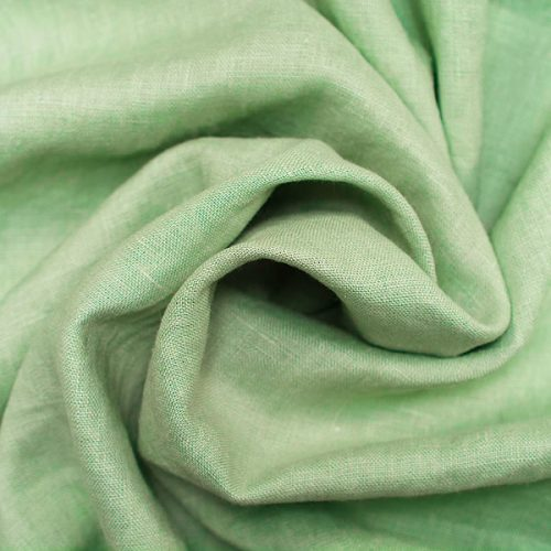 Linen Fabric Stonewashed Mint