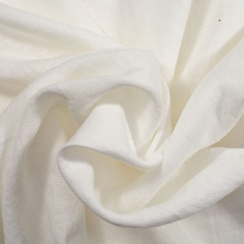Linen Fabric Stonewashed White