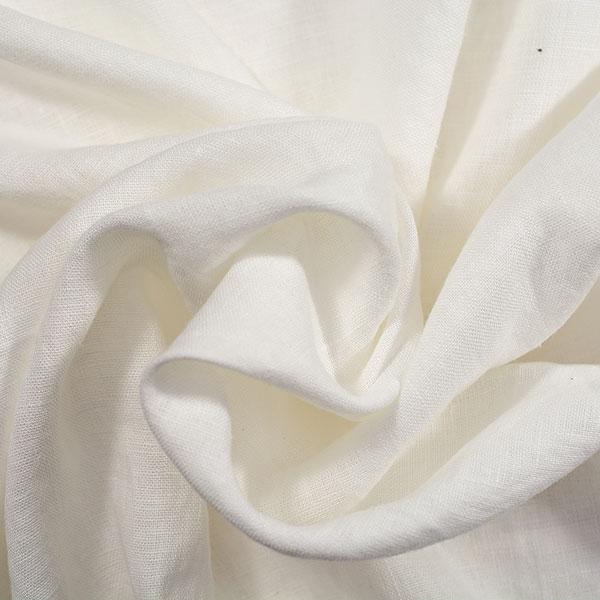 Linen Fabric Stonewashed White