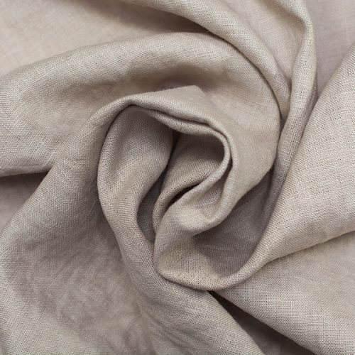Linen Fabric Stonewashed Nature