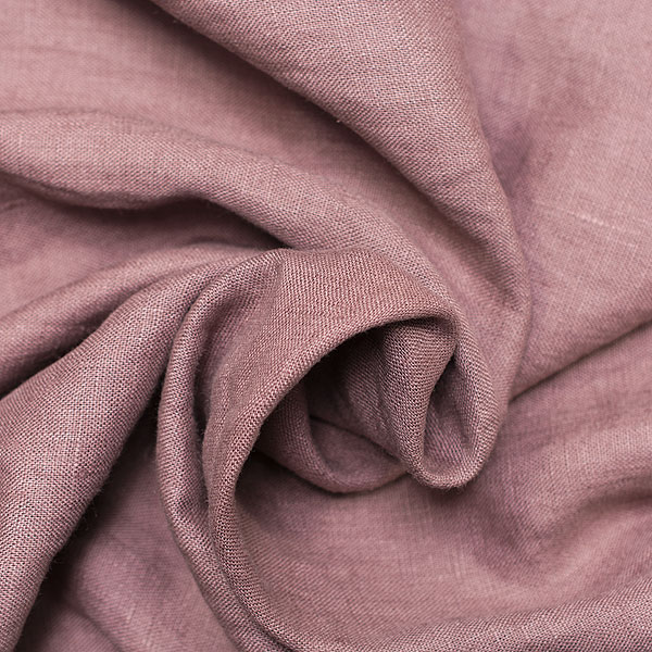 Linen Fabric Stonewashed Violet