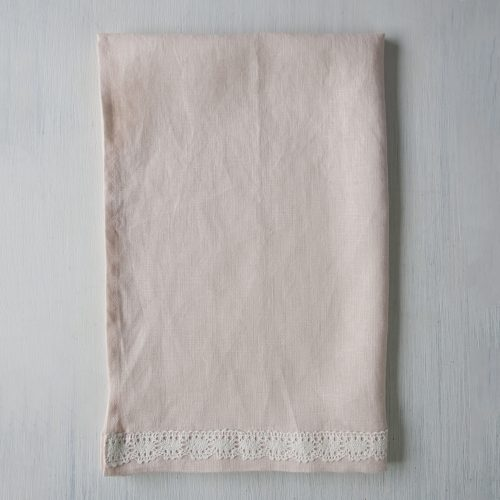 Linen Towel Rose