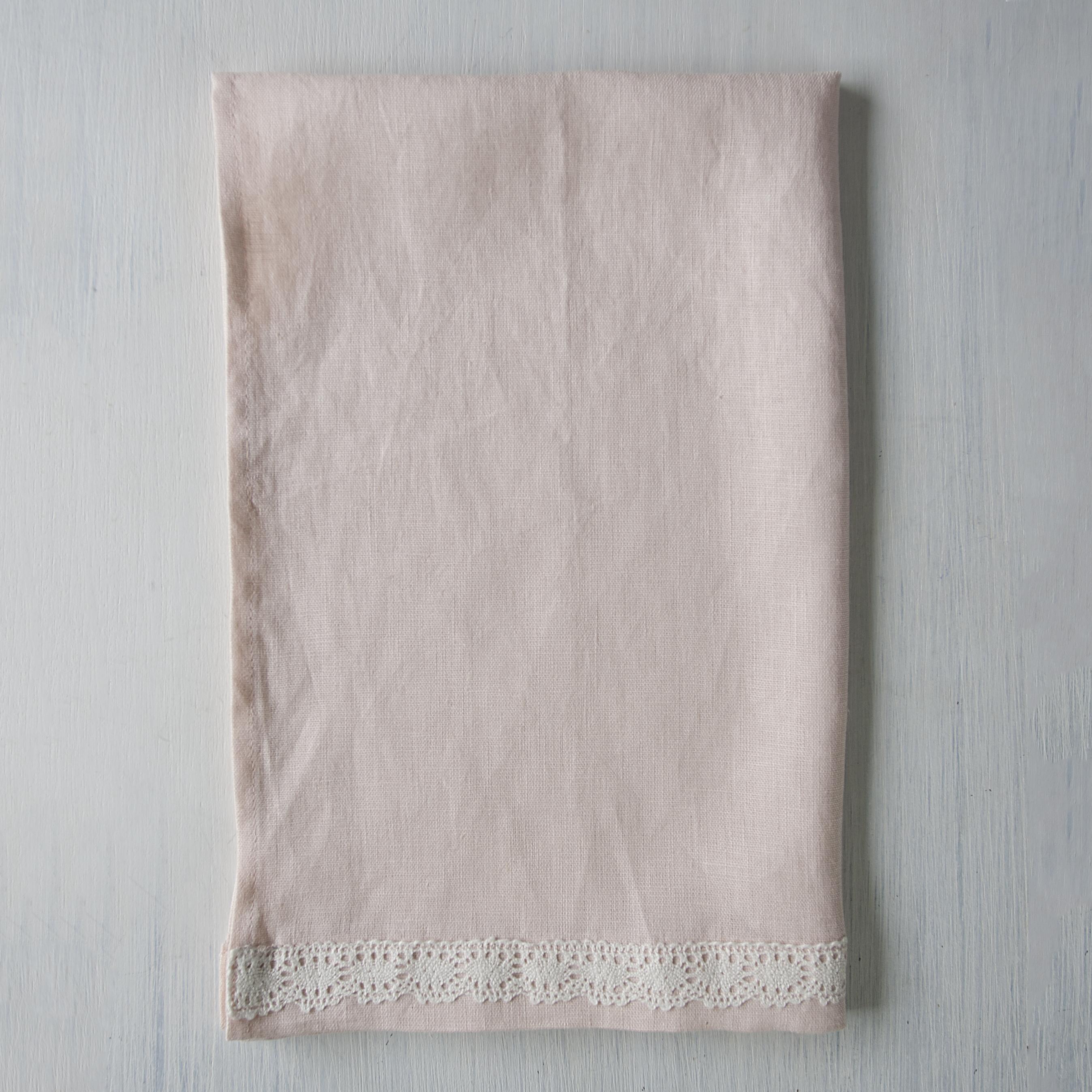 Linen Towel Rose