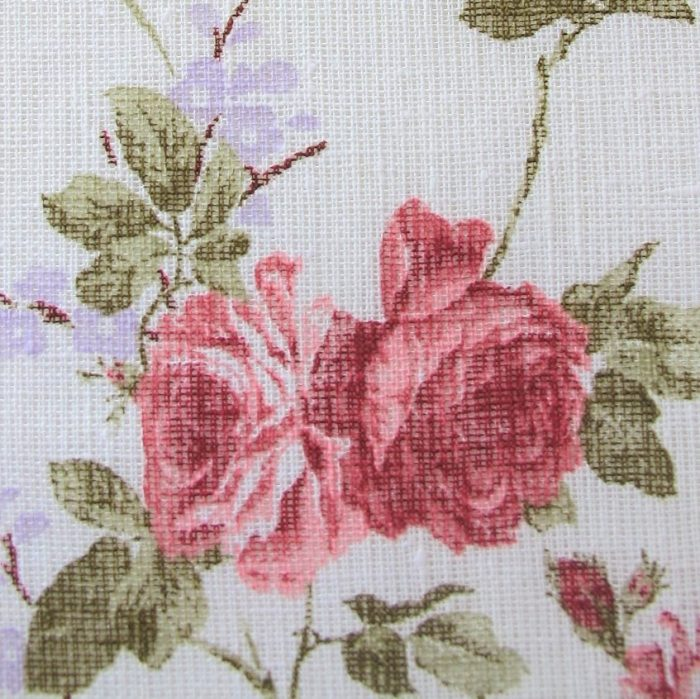 Linen Fabric Vintage Rose