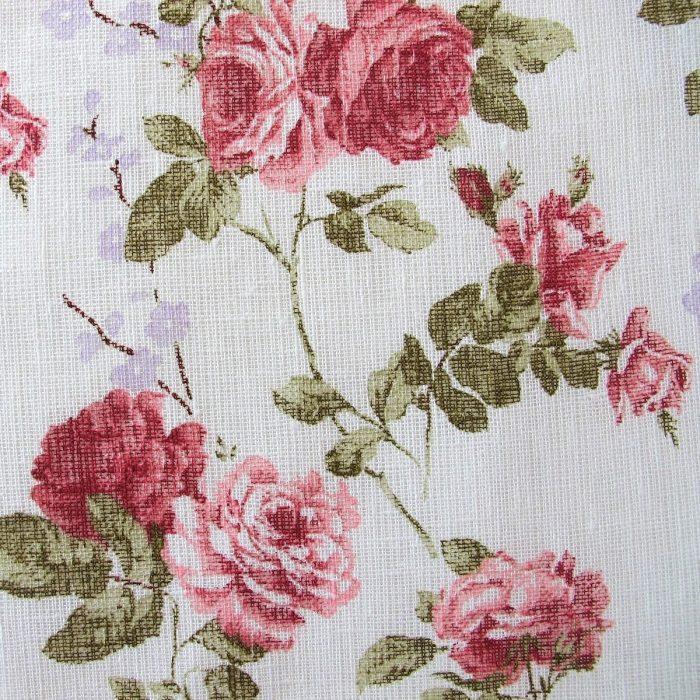 Leinenstoff Vintage Rose