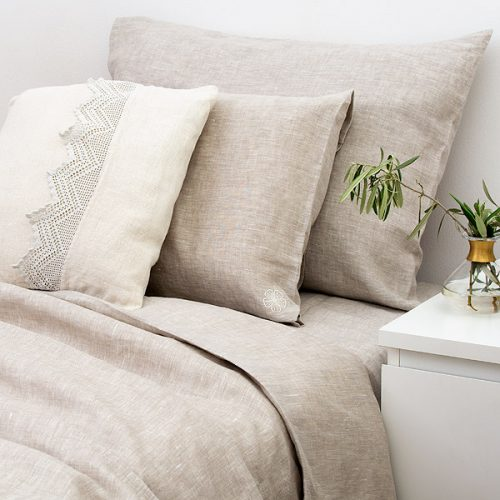 Linen Bedding Set Natural Grey