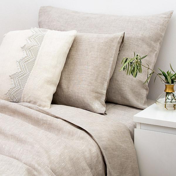 Linen Bedding Set Natural Grey