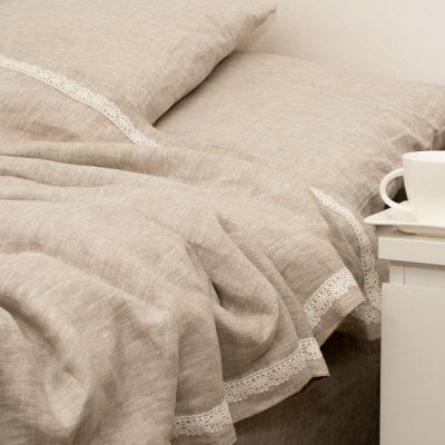 Pure Linen Bedding Natural Grey