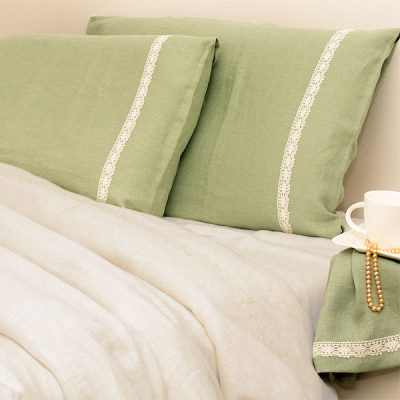 Pure Linen Bedding Stonewashed Mint