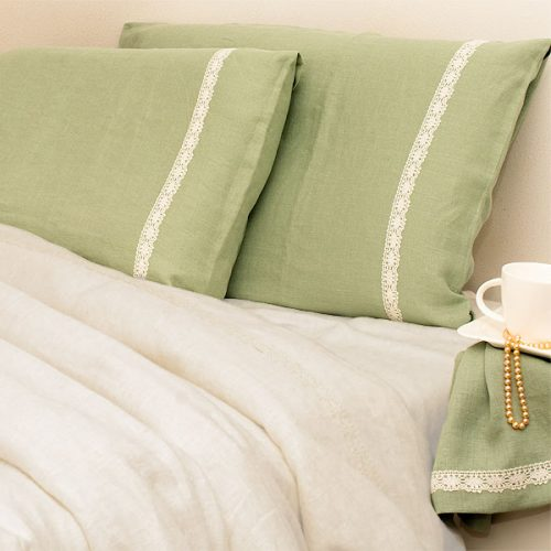 Pure Linen Bedding Stonewashed Mint