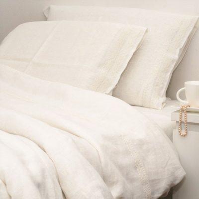 Leinen Bettwäsche Stein gewaschen