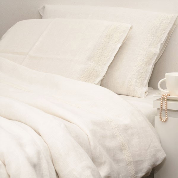 Bed Linen Set Stonewashed White