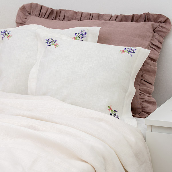 Pure Linen Pillow Lavender