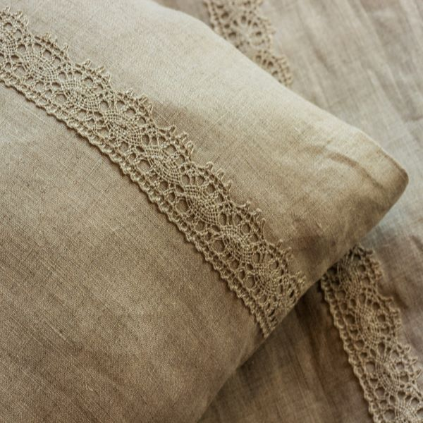 Pure Linen Pillowcase Natur Lase