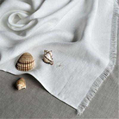 Linen Bath Towel White