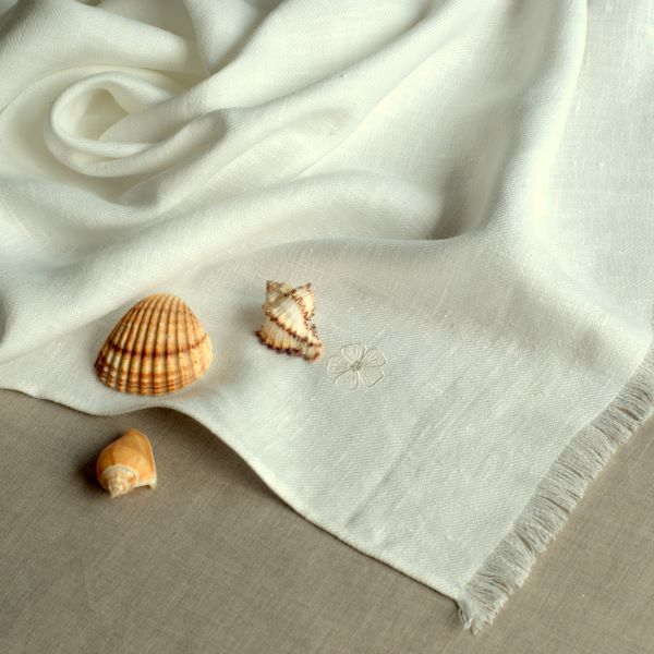 Linen Bath Towel White