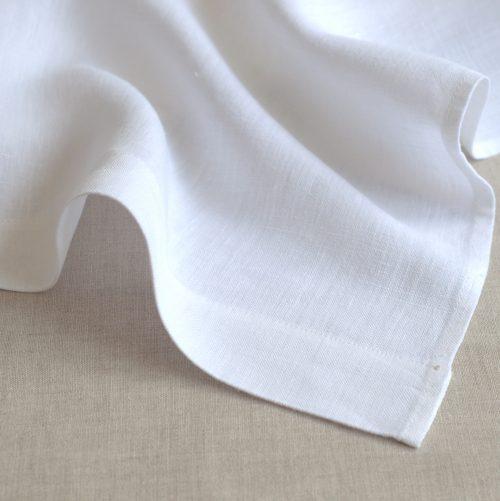 Leinen Bettlaken  Weiß