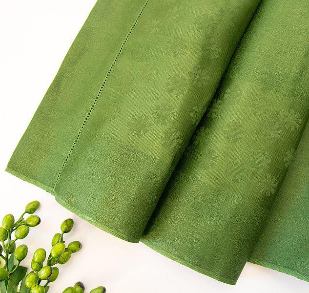 Pure Linen Towel Dark Green