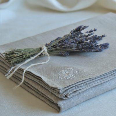 Linen Bed Sheet Grey