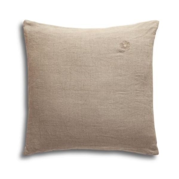 Pure Linen Pillowcase with Logo